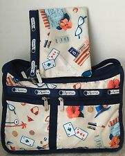 NWT LeSportsac Deluxe Everyday crossbody bag Purse secret vacation red blue $82