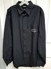 Men's Harley Davidson Black Long Sleeve Embroidered Logo Button Up Shirt Tall L