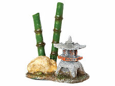 Pagoda with Bamboo Aquarium Ornament Fish Tank Decoration