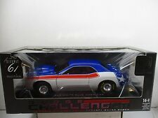 1/18 SCALE HIGHWAY 61 RED/WHITE/BLUE DODGE CHALLENGER CONCEPT SUPER STOCK