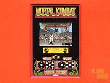 "Mortal Kombat 2x3"" fridge/locker magnet arcade Midway marquee/bezel/control"