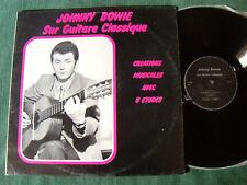 JOHNNY BOWIE sur guitare classique: Créations, 8 études - LP 1970's autoprod 781