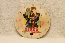 FRENCH SISCA LIQUOR CLOCK~ by HENRY LE MONNIER ~ RETRO ADVERTISEMENT