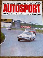 Autosport 11/5/72* SPA 1000 KMS - PAU F2 - IMOLA INTERSERIE - LOLA FEATURE