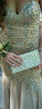Champagne Gold Sequin Prom Long Gown / Dress Designer Jovani  Size 4