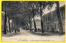 cpa Rare CARMAUX (Tarn) Le BOIS REDON et Avenue d'ALBI Épicerie ETOILE du MIDI