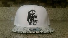 Rare Last Kings Basic White Snake Skin Strapback 100% Authentic,Snapback,Tyga