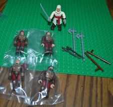 MEGA BLOKS ASSASSIN'S CREED FIGURES AND WEAPONS LOOSE