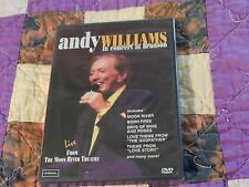 Andy Williams In Concert at Branson (DVD, 2002) *NEW* (Moon River Theatre) *NEW*