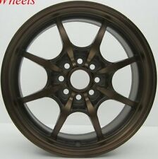 2PC 16X7 +40 ROTA CIRCUIT 8 4X114.3 FULL ROYAL SPORT BRONZE WHEEL FIT VERSA
