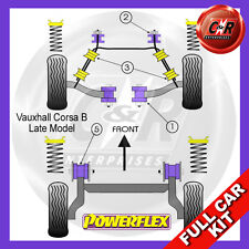 Opel Corsa B - Late Model Powerflex Complete Bush Kit