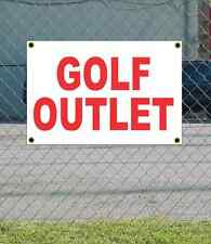 2x3 GOLF OUTLET Red & White Banner Sign NEW Discount Size & Price FREE SHIP