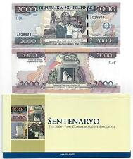 Filipinas Philippines 2000 piso 2001 Commemorative en Folder UNC