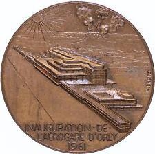 M907 Médaille Inauguration Aérogare d'Orly 1961 Dropsy Aéroport Paris - F offre