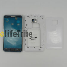 Full Housing Cover Case + Button for Samsung Galaxy S2 i9100 White