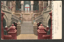 1908 pc Grand Stair Case Capitol Albany NY Benjamin Bulmer to Bessie Chester NY