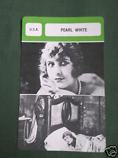PEARL WHITE  - MOVIE STAR - FILM TRADE CARD - FRENCH