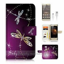 Huawei G8 Flip Wallet Case Cover P1844 Dragonfly