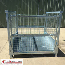 Pallet Cage - Folding, Stackable suitable for pallet racking & storage