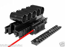 12 Gauge Shell Holder With Mount And Red Laser Kit For Mossberg 500 Mossberg 590