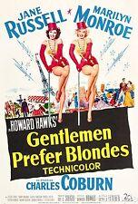 Gentlemen Prefer Blondes Marilyn Monroe Film Vintage Cinema Movie Poster Print