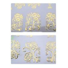 108Pcs DIY Decoration Tools 3D Silver Flower Nail Art Stickers Decals Stamping