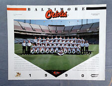 Vintage 1990 Orioles Baseball Team Picture w Cal Ripkin, Jr and Frank Robinson