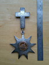 EARLY/MID 1800`S KNIGHTS TEMPLAR/FREEMASON JEWEL/SILVER/GOLD