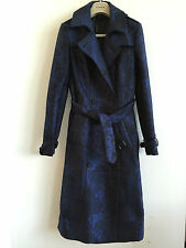 BURBERRY PRORSUM WOMENS SILK BLEND JACQUARD PATTERN TRENCH COAT £1895 RETAIL