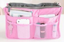 Women Travel Insert Handbag Organizer Purse Large Liner Tidy Bag Pouch(Pink)