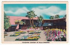 "Palm Springs CA ""The Colburn Center"" Linen"" Postcard California *FREE US SHIP"