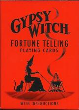 GYPSY WITCH FORTUNE TELLING PLAYING CARDS 52 CARDS WICCA PAGAN NEW UN-OPEN
