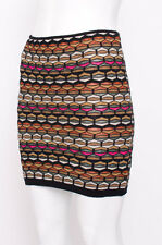 M MISSONI Multi Color Wool Blend Knit Pattern Stretch Bodycon Mini Skirt 42/6/M