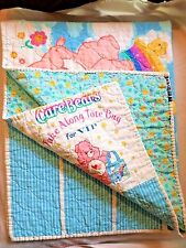 COLORFUL VINTAGE? CARE BEARS TAKE ALONG TOTE BAG FOR V.I.P FABRIC CRAFT PANEL