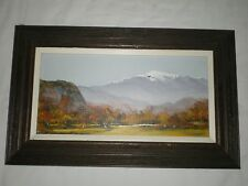 C SELMI 87 Charles Chuck Oil on Board Landscape Mountain Tree New England Artist