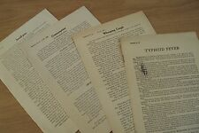 1915 Lot of 4 DISEASE Bulletins~Small-Pox/Consumption/Whooping Cough~Typhoid~