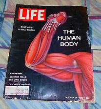 "Life Magazine October 26, 1962 ""The Human Body - Part I""   Good"