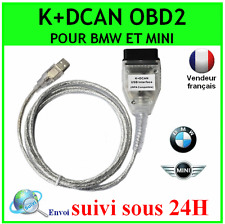 INTERFACE CABLE K+DCAN CAN USB OBD2 BMW MINI SCANNER DIAGNOSTIQUE INPA EDIABAS