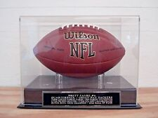Football Display Case With A Brett Favre Green Bay Packers Engraved Nameplate