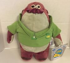 "NWT Monsters University Inc Don Carlton Plush 8"" Disney Store Green Glasses"