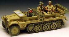 KING & COUNTRY AFRIKA KORPS AK020D WW2 GERMAN DEMAG HALFTRACK SET MIB