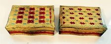 2 Vintage Italian Wooden Gilt & Painted Jewelry / Trinket Boxes