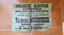 Affiche PUBLICITÉ - 290716 - SORE (LANDES) Horlogerie, Bijouterie, Lunetterie