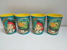 JAKE AND THE NEVERLAND PIRATES PLASTIC PARTY CUPS 16 oz 726528299718 LOT OF 4