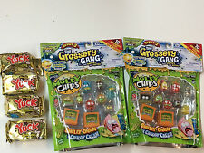 (2)The Grossery Gang season 2  MOLDY CHIPS  10 packs & (4) season 2 YUCK BARS