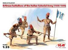 ICM 1/35 Eritrean Colonial Troops (1939-40), 1/35 scale, 4 Figures, World War II