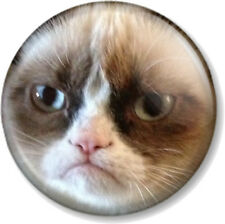 "Grumpy Cat Face 25mm 1"" Pin Button Badge Internet Meme Funny Pet Humour Close Up"