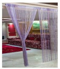 Ramcha Purple Shining String Curtain - 2 Pcs