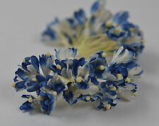 100 ROYAL BLUE GYPSOPHILA on THREAD Mulberry Paper for Flowers crafts cards