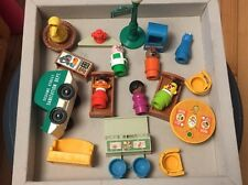 Vintage Fisher Price Sesame Street Little People Figures & Accessories
